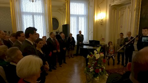 1848-as megemlékezés Bécsben  Nemzeti ünnepi fogadás a nagykövetségen