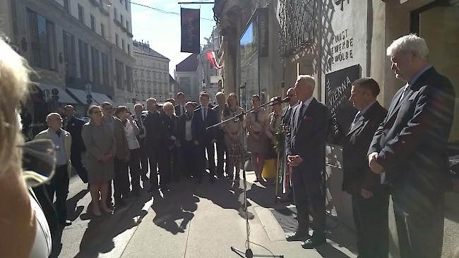 Széchenyi emlékmű  koszorúzása Bécsben
