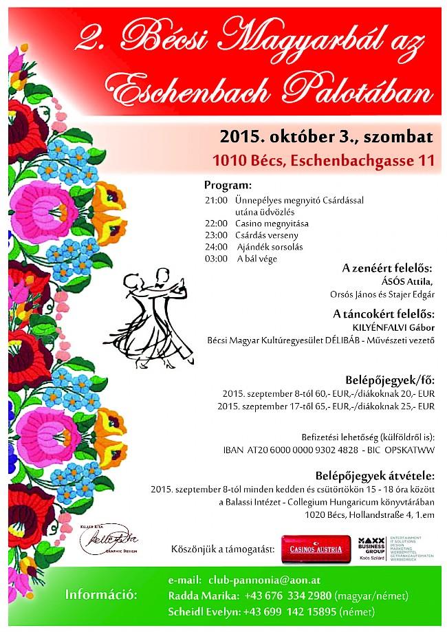 2. Bécsi Magyarbál az Eschenbach Palotában