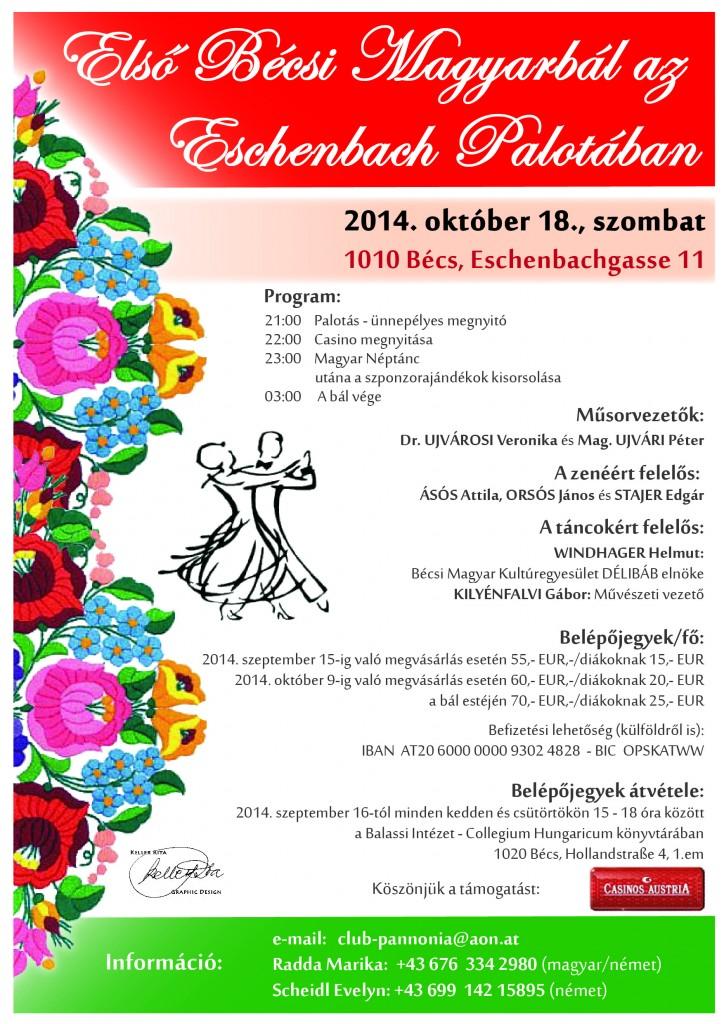 Első Bécsi Magyarbál az Eschenbach Palotában