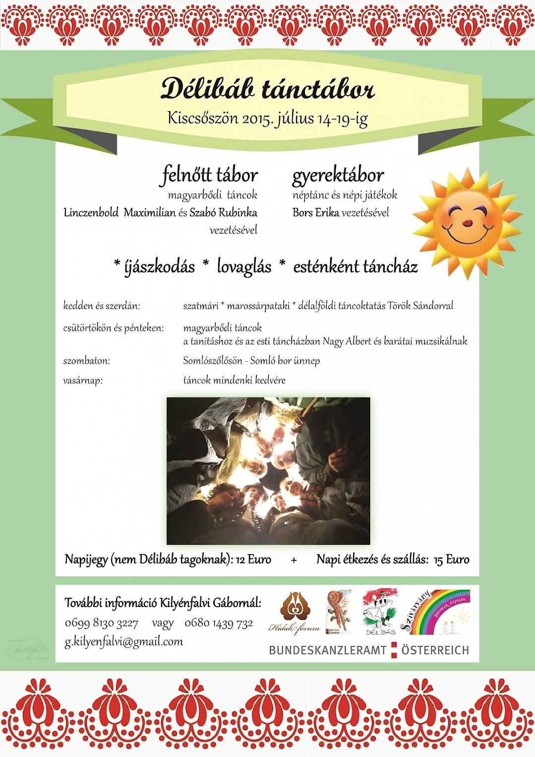 Délibáb tánctábor Kiscsőszön 2015. július 14-19-ig!!