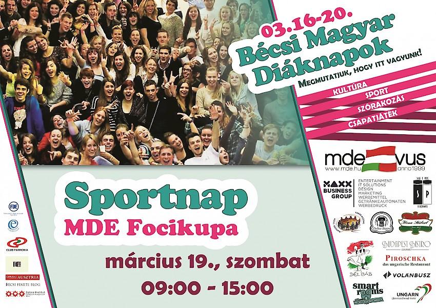 MDE-VUS Sportnap – MDE Focikupa