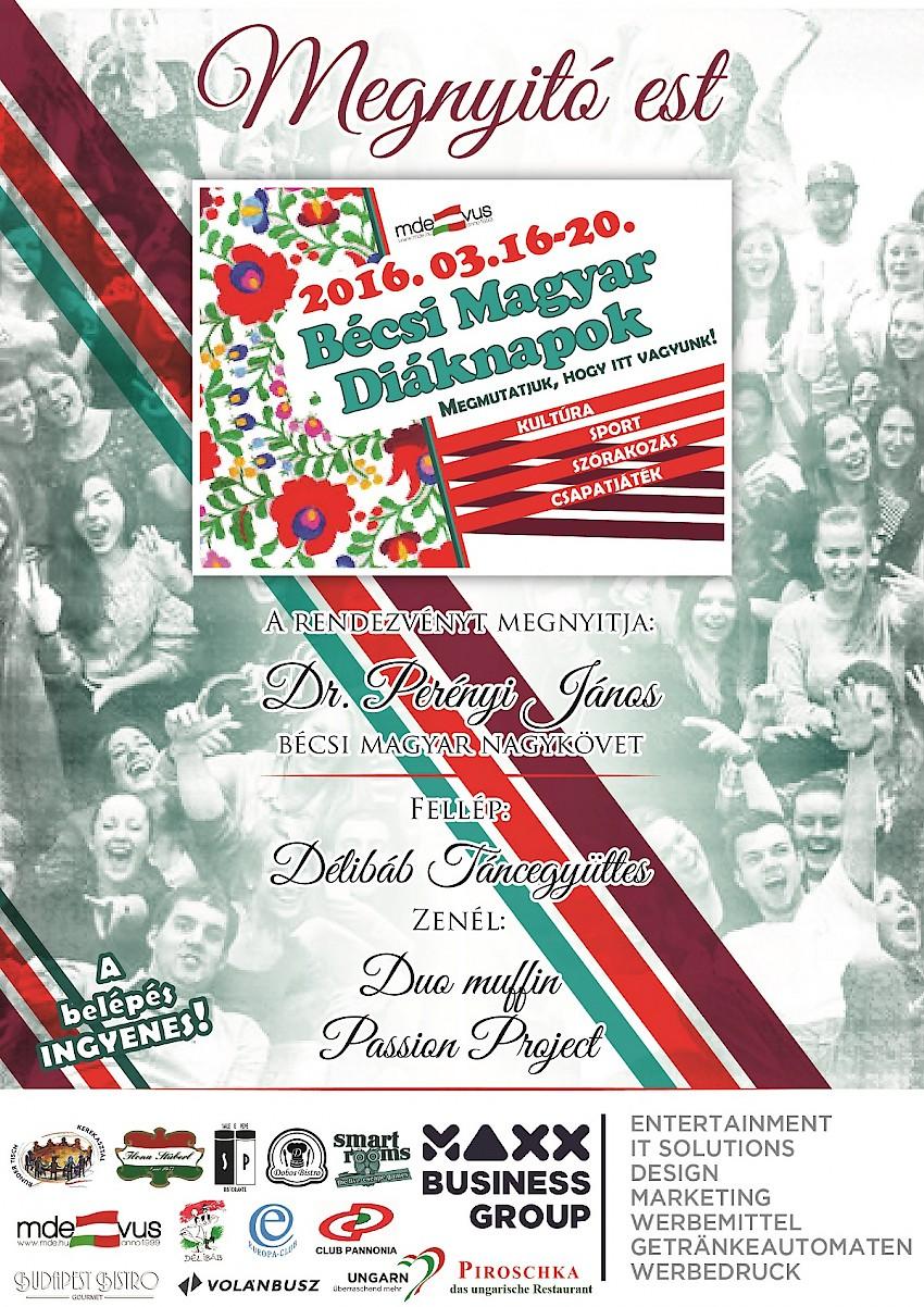 MDE – Bécsi Magyar Diáknapok MEGNYITÒ
