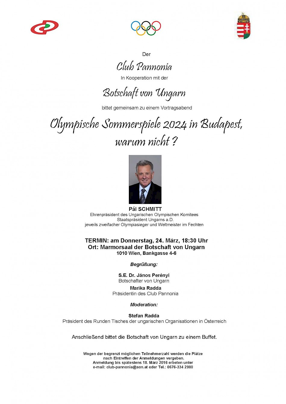Olympische Sommerspiele 2024 in Budapest, warum nicht ?