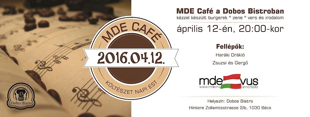 MDE CAFÉ – Költészet Napi Est