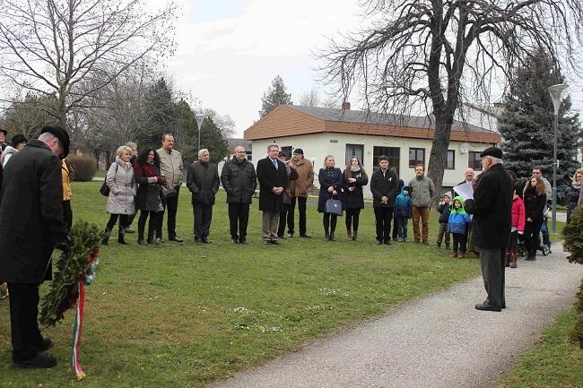 Március 15-ei megemlékezés és Kossuth emléktábla koszorúzás Miklósfalván