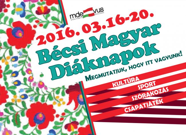 I. Bécsi Magyar Diáknapok a Magyar Diákok Egyesületének szervezésében