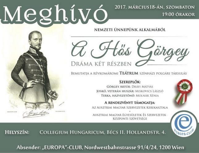 """""""Európa""""-Club"""" Görgey Gábor: A HŐS GÖRGEY"""