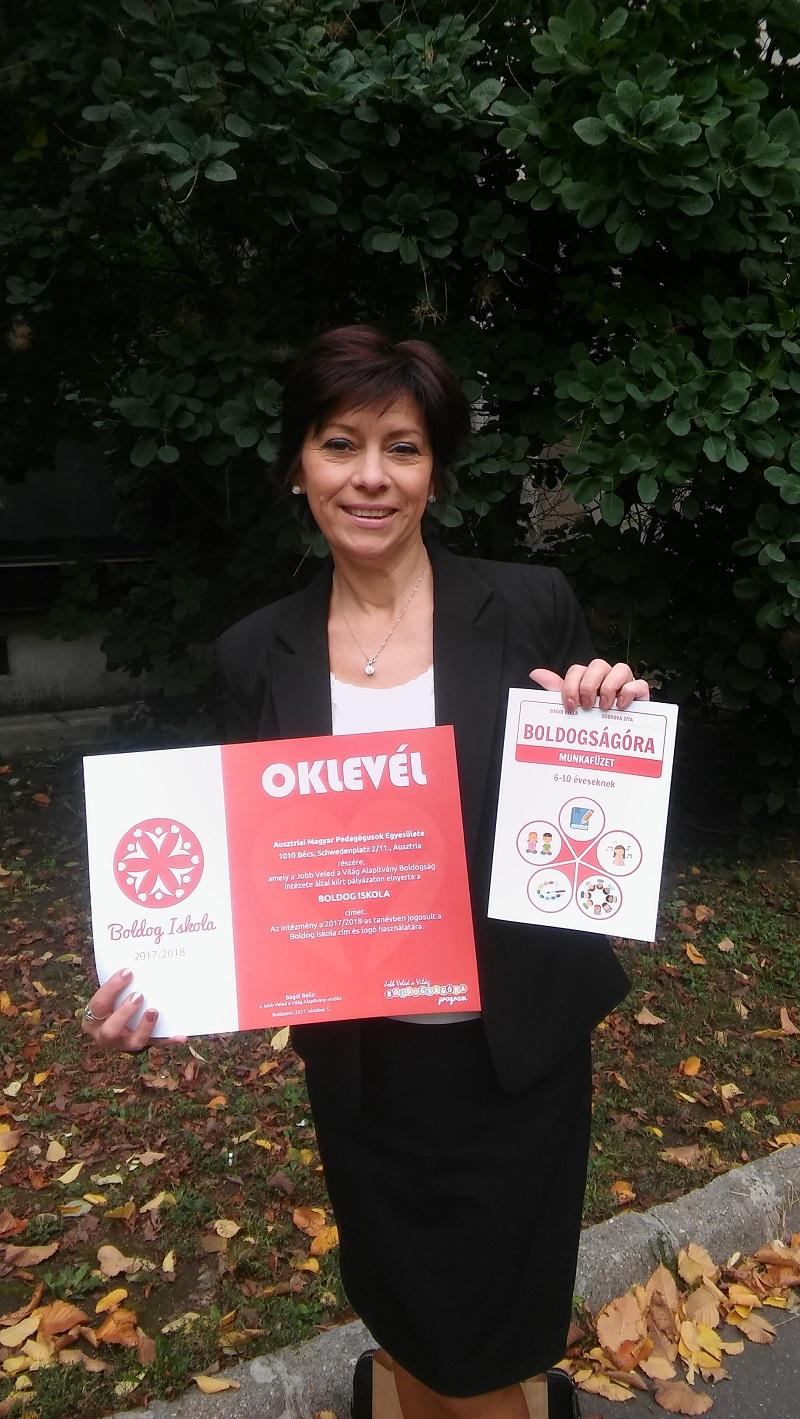 Az Ausztriai Magyar Pedagógusok Egyesülete is bekapcsolódott a Boldogságóra programba