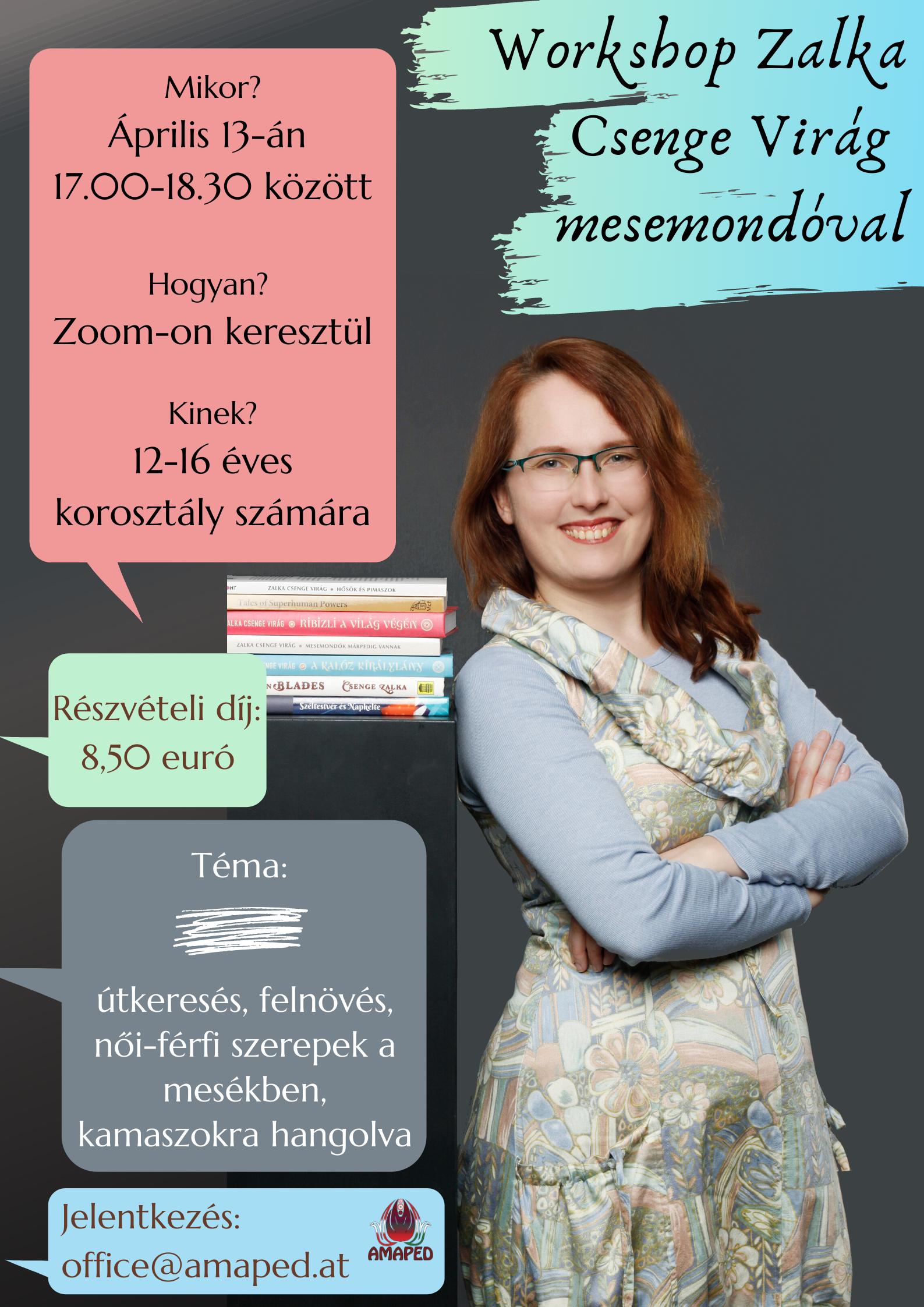 Workshop Zalka Csenge Virág mesemondóval