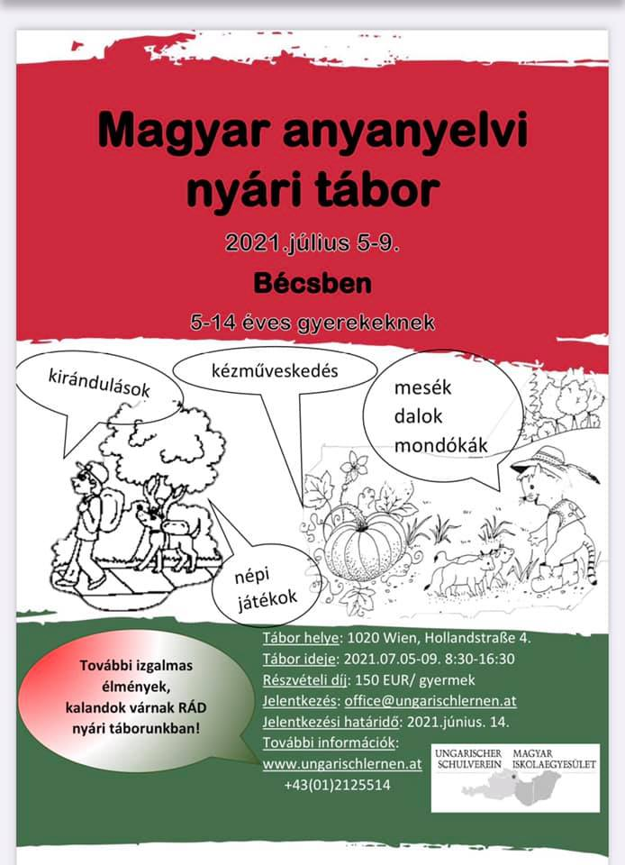 Magyar anyanyelvi tábor a Bécsi Magyar Iskolaegyesületben