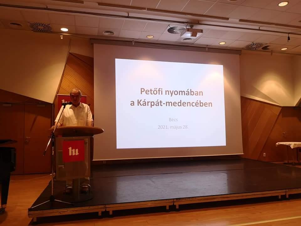 """Dr. Tarjányi József előadása """"Petőfi nyomában a Kárpát-medencében"""""""