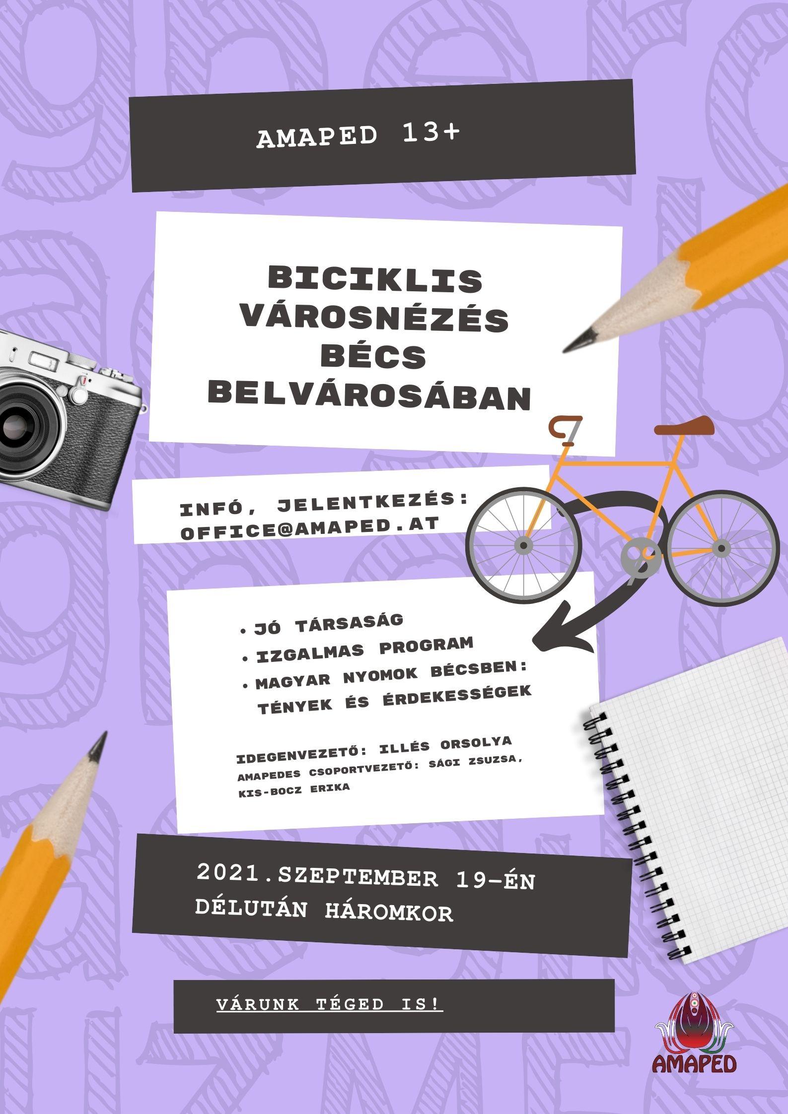 Biciklis városnézés fiataloknak